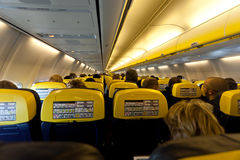 Εσωτερικό αεροσκαφών Στοκ φωτογραφία με δικαίωμα ελεύθερης χρήσης
