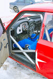 Εσωτερικό αθλητικό αυτοκίνητο Στοκ εικόνες με δικαίωμα ελεύθερης χρήσης