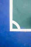 Εσωτερικό αθλητικό στάδιο δικαστηρίων Futsal με το σημάδι Στοκ φωτογραφίες με δικαίωμα ελεύθερης χρήσης