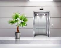 Εσωτερικό αιθουσών ανελκυστήρων απεικόνιση αποθεμάτων