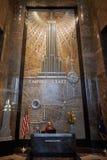 Εσωτερικό αιθουσών Εmpire State Building με το μάρμαρο και τη διακόσμηση στη Νέα Υόρκη Στοκ εικόνες με δικαίωμα ελεύθερης χρήσης
