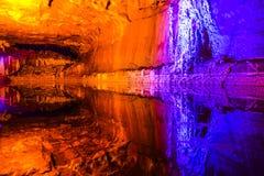 Εσωτερικό αλατισμένων ορυχείων σε Khewra στοκ εικόνες