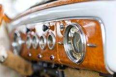 Εσωτερικό αναδρομικό αμερικανικό αυτοκίνητο Στοκ Εικόνα
