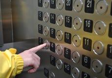 Εσωτερικό ανελκυστήρων Στοκ Εικόνες