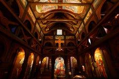 Εσωτερικό αντίγραφο εκκλησιών σανίδων Στοκ Εικόνες