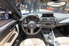Εσωτερικό αυτοκίνητο της BMW 120d Στοκ φωτογραφία με δικαίωμα ελεύθερης χρήσης