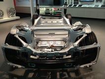 Εσωτερικό αυτοκινήτων τέσλα Στοκ φωτογραφίες με δικαίωμα ελεύθερης χρήσης