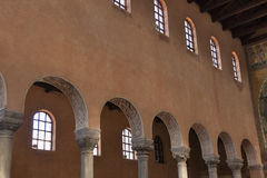 Εσωτερικό βασιλικών Euphrasian Porec, Κροατία Στοκ Φωτογραφία