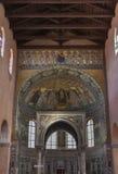 Εσωτερικό βασιλικών Euphrasian Porec, Κροατία Στοκ εικόνες με δικαίωμα ελεύθερης χρήσης