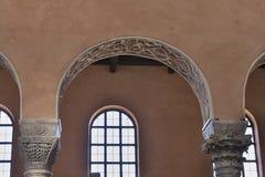 Εσωτερικό βασιλικών Euphrasian Porec, Κροατία Στοκ Εικόνες
