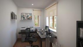 Εσωτερικό γραφείο σχεδίου στο σπίτι φιλμ μικρού μήκους