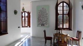 Εσωτερικό διακόσμηση-Mudejar ύφος-Palacio-Los-Navajas Ανδαλουσία-Ισπανία στοκ φωτογραφίες