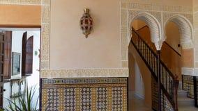 Εσωτερικό διακόσμηση-Mudejar ύφος-Palacio-Los-Navajas Ανδαλουσία-Ισπανία στοκ φωτογραφία με δικαίωμα ελεύθερης χρήσης