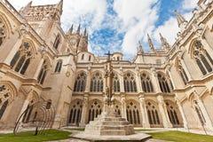 Εσωτερικό δικαστήριο του καθεδρικού ναού στο Burgos, Ισπανία στοκ εικόνες