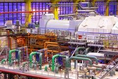 Εσωτερικό εγκαταστάσεων παραγωγής ενέργειας Στοκ Εικόνες