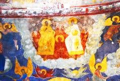 Εσωτερικό εκκλησιών με τις αρχικές 17ες νωπογραφίες αιώνα Στοκ εικόνες με δικαίωμα ελεύθερης χρήσης