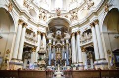 Εσωτερικό εκκλησιών Στοκ εικόνες με δικαίωμα ελεύθερης χρήσης