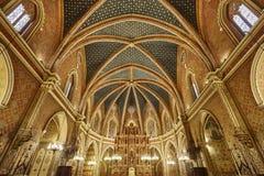 Εσωτερικό εκκλησιών SAN Pedro Teruel κυριώτερη κληρονομιά Γύρος της Ισπανίας στοκ εικόνες