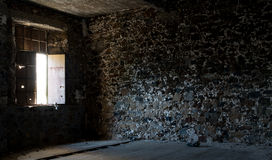 Εσωτερικό ενός εγκαταλειμμένου κενού δωματίου Στοκ φωτογραφία με δικαίωμα ελεύθερης χρήσης