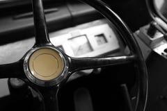 Εσωτερικό ενός εκλεκτής ποιότητας leyland λεωφορείου λεοπαρδάλεων στοκ εικόνα με δικαίωμα ελεύθερης χρήσης