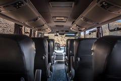 Εσωτερικό ενός λεωφορείου Cajon del Maipo - τη Χιλή στοκ φωτογραφίες