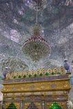Εσωτερικό ενός μουσουλμανικού τεμένους καθρεφτών σε Yazd Στοκ Φωτογραφίες