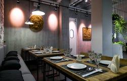 Εσωτερικό ενός ταϊλανδικού εστιατορίου Στοκ Εικόνες
