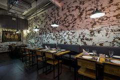 Εσωτερικό ενός ταϊλανδικού εστιατορίου Στοκ Εικόνα