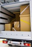 Εσωτερικό ενός φορτηγού στοκ φωτογραφία