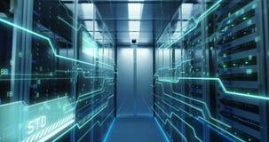 Εσωτερικό ενός φουτουριστικού κέντρου δεδομένων φιλμ μικρού μήκους