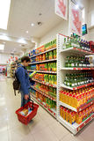 Εσωτερικό ενός χαμηλής τιμής hyperpermarket Voli Στοκ Εικόνα