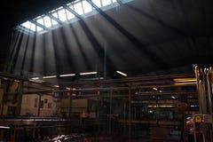Εσωτερικό εργοστάσιο στοκ φωτογραφία
