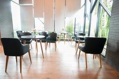 Εσωτερικό εστιατορίων καφέδων Στοκ εικόνα με δικαίωμα ελεύθερης χρήσης