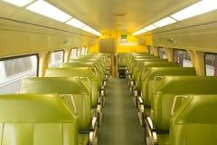 Εσωτερικό λεωφορείο τραίνων στον κεντρικό σταθμό Αυστραλία του Σίδνεϊ Στοκ Φωτογραφία