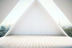 Εσωτερικό ελαφρύ ξύλινο πάτωμα σοφιτών απεικόνιση αποθεμάτων