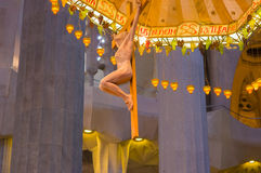 Εσωτερικό θεαματικό Λα Sagrada εκκλησιών της Βαρκελώνης Στοκ εικόνα με δικαίωμα ελεύθερης χρήσης