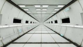 Εσωτερικό διαστημοπλοίων, κεντρική άποψη με το πάτωμα Στοκ εικόνα με δικαίωμα ελεύθερης χρήσης