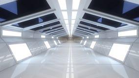 Εσωτερικό διαστημοπλοίων, κεντρική άποψη με το πάτωμα Στοκ φωτογραφίες με δικαίωμα ελεύθερης χρήσης
