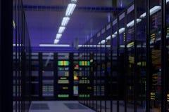 Εσωτερικό κέντρων δεδομένων εργασίας στοκ φωτογραφίες