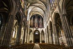 Εσωτερικό και λεπτομέρειες της βασιλικής των Άγιος-denis, Γαλλία Στοκ εικόνα με δικαίωμα ελεύθερης χρήσης