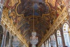 Εσωτερικό και λεπτομέρειες Château de Βερσαλλίες, Γαλλία Στοκ φωτογραφία με δικαίωμα ελεύθερης χρήσης