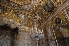 Εσωτερικό και λεπτομέρειες Château de Βερσαλλίες, Γαλλία Στοκ φωτογραφίες με δικαίωμα ελεύθερης χρήσης