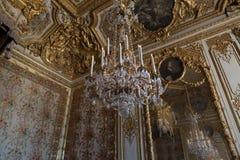 Εσωτερικό και λεπτομέρειες Château de Βερσαλλίες, Γαλλία Στοκ Εικόνα