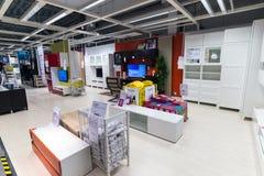 Εσωτερικό κατάστημα επίπλων Ikea Στοκ Φωτογραφίες
