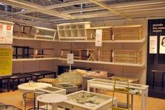 Εσωτερικό κατάστημα επίπλων Ikea Στοκ εικόνα με δικαίωμα ελεύθερης χρήσης