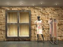 εσωτερικό κατάστημα με το μανεκέν Στοκ εικόνα με δικαίωμα ελεύθερης χρήσης