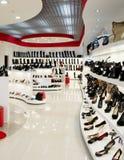 εσωτερικό κατάστημα παπουτσιών Στοκ Εικόνες