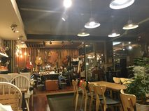 Εσωτερικό κατάστημα τεχνών χεριών καφέδων στοκ φωτογραφίες με δικαίωμα ελεύθερης χρήσης