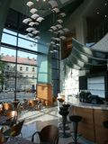 εσωτερικό καφέδων Στοκ Εικόνες