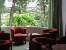 Εσωτερικό, κενό καθιστικό ξενοδοχείων Στοκ φωτογραφία με δικαίωμα ελεύθερης χρήσης